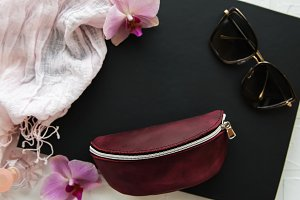 Leather sunglasses cover