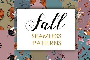 Fall seamless pattern
