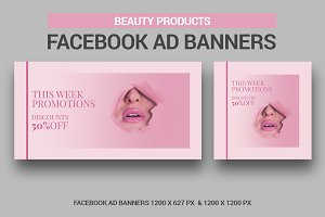 Beauty Products Banners Facebook Ad