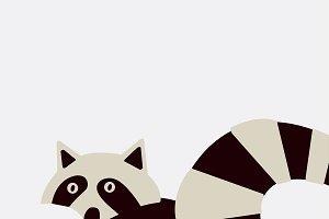 Smart wildlife raccoon