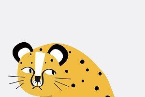 Cute cheetah cartoon