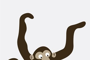 Excited monkey dancing