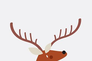Cute deer with antlers