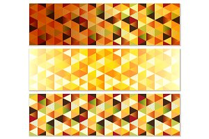 Geometric Autumn Banners with