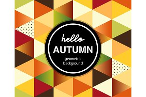 Geometric Autumn Banner with