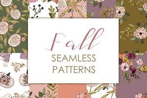 Fall seamless pattern