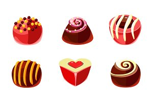 Flat vector set of delicious