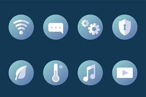 Smart home icons vector collection