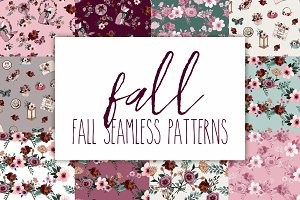 Fall seamless patterns