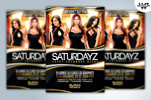 SATURDAY NIGHT Flyer Template