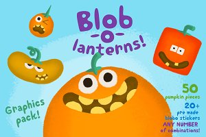 Blob-o-lanterns Graphic Pack