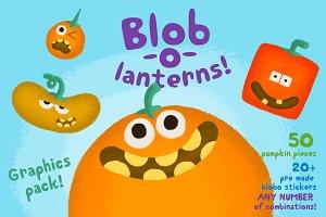 Blob-o-lanterns Graphic Pack