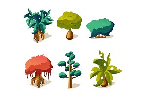 Fantasy trees and plants set, user