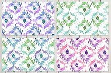 4 Watercolor Seamless Patterns