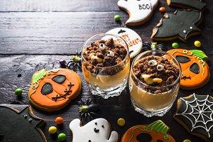 Halloween sweet dessert.
