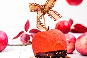 Halloween candy apple dessert