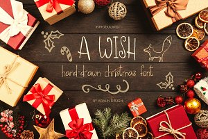 A WISH- Christmas font