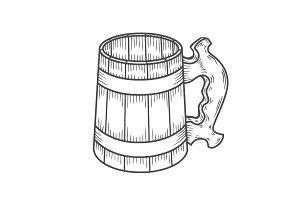 Retro style beer mug