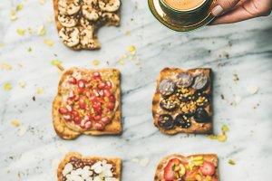 Healthy breakfast with wholegrain