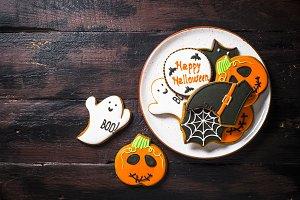 Halloween Gingerbread Cookies -