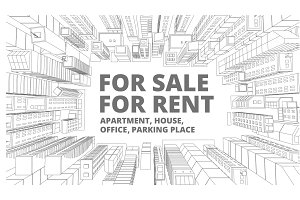 Background for text on the rental of