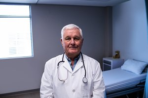 Portrait of male doctor standing
