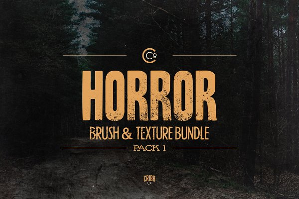Horror Brush & Texture Bundle Pack