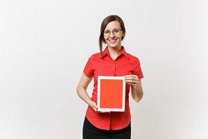 Portrait of business teacher woman i