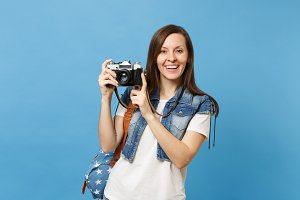 Young pretty smiling woman student i