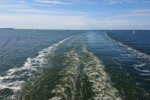 Road on the sea