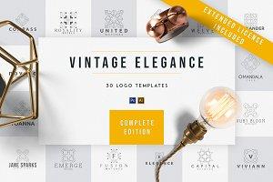 Vintage Elegance | 30 Logo Templates