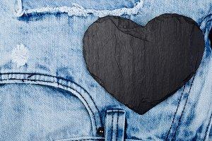 Denim. Jeans texture background. Val