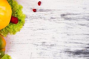 Fruits and vegetables frame. Copy sp