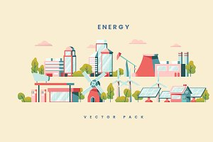 Energy saving concept yellow vector