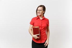 Portrait of young business teacher w