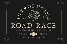 Road Race Font Family + Extras by  in Serif Fonts