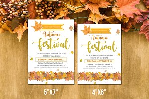 Autumn Festival Flyer Template-V-01