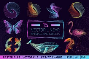 Premium Vector Linear Objects