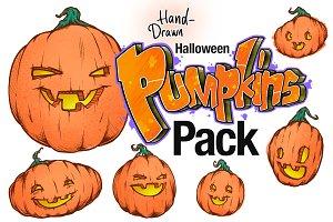 Premium Halloween Pumpkin Drawings