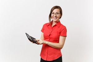 Portrait of business teacher or acco