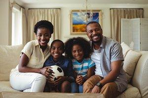 Portrait of parents and kids