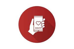Smartphone donation app icon