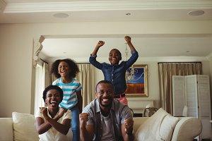 Parents and kids having fun