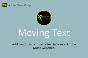 Moving Text Adobe Muse Widget