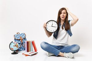 Young dissatisfied woman student in