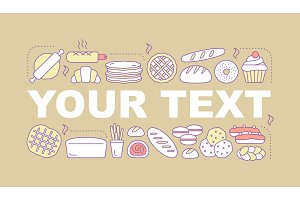 Bakery word concepts banner