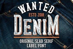 Wanted Denim layered font