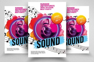 Music Sound Flyers Template