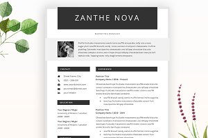 Creative Resume CV Template - ZN