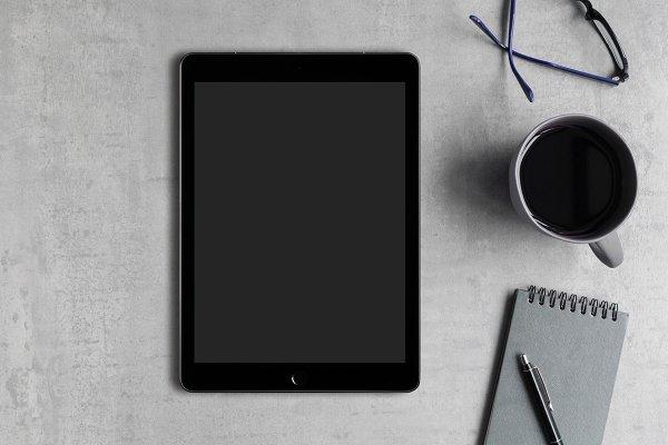 Desktop Flat Lay with iPad
